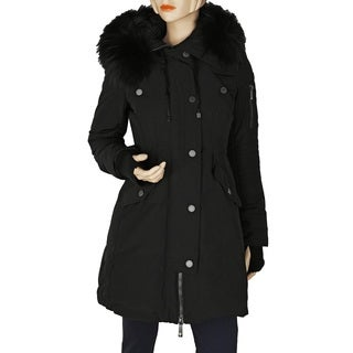 BCBG Max Azria Women's Sahara Black Blend Puffer Coat