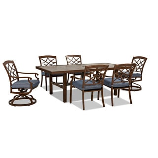 Trisha Yearwood Outdoor Demo Denim Dining Set
