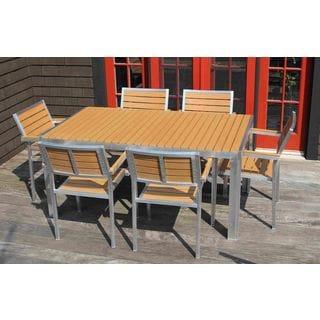 Winston Outdoor Powder-Coated Aluminum 7-Piece Dining Set