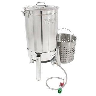 Bayou Classic Stainless 44-quart Boiler/ Steamer Kit