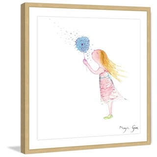 Marmont Hill - 'Girl with Dandelion' by Maya Gur Framed Painting Print
