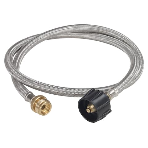 Bayou Classic® MCR1 - 4-ft Stainless Braided LPG Tank Adapter Hose