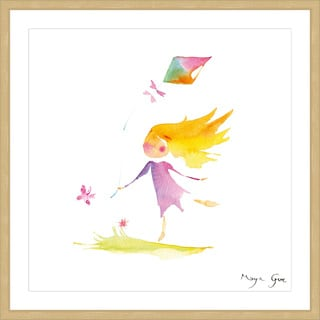 Marmont Hill - 'Girl with Kite' by Maya Gur Framed Painting Print