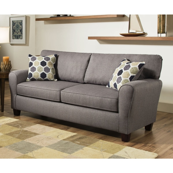 Sofab Brooke Ii Grey Sofa With Two Reversible Accent Pillows