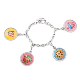 Shopkins Kid's Silvertone Bottlecap Charm Bracelet