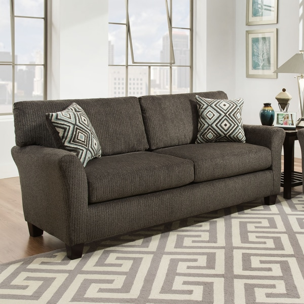 Shop Sofab Fifth Avenue Charcoal Sofa With Accent Pillows