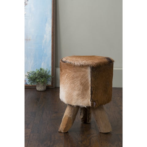 East At Main's Nellie Brown Natural Hide Stool