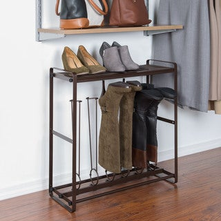 Richards Homewares Bronze Tilt-out Tall Boot Organizer