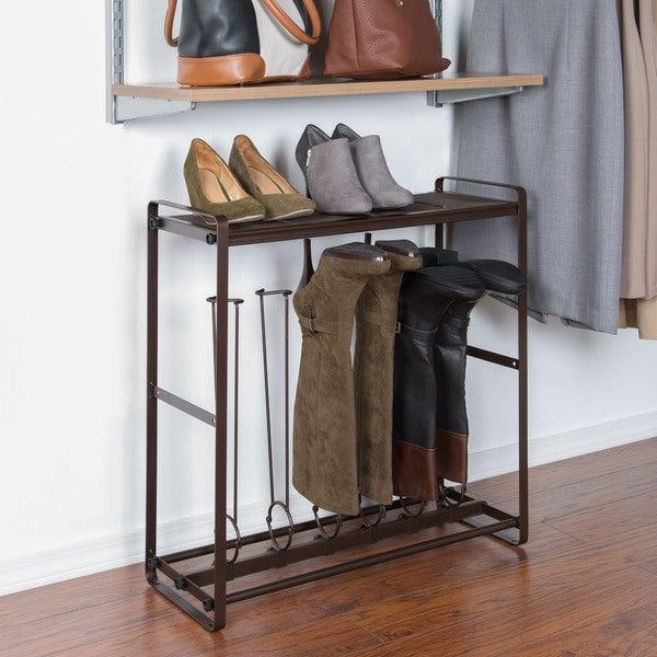 Richards Homewares Bronze Tilt-out Tall Boot Organizer