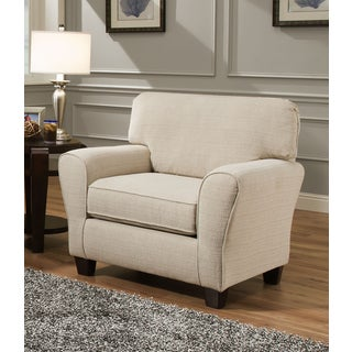 Cream living room chairs for Abbyson living soho cream fabric chaise