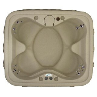 AquaRest Premium 400 4-P Spa with Ozn, Htr, 20 SS Jets, and LED Wtrfll