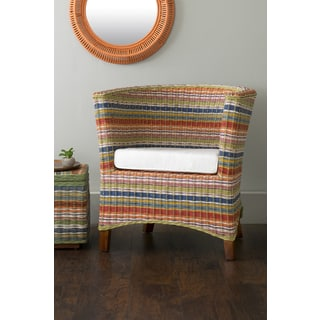 East At Main's Highland Multi-Colored Rattan Occasional Chair