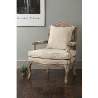 East At Main's Arcadia Off-White Rattan Occasional Chair