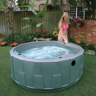 AquaRest AR-200 4-person Spa with 14 Stainless Steel Jets and LED Waterfall