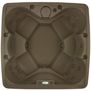 AquaRest Premium 600 6-P Spa with Ozn, Htr, 29 SS Jets, and LED Wtrfll (Option: Brown)