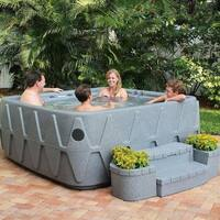 AquaRest Premium 500 5-P Spa with Ozn, Htr, 29 SS Jets, and LED Wtrfll