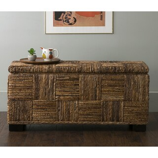 East At Main's Mulberry Brown Abaca Bench