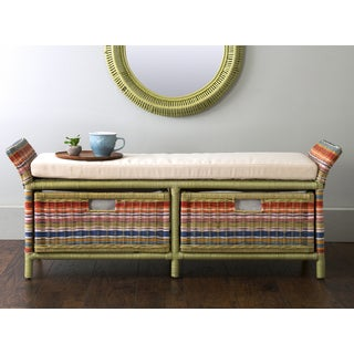 East At Main's Hemphill Multi-Colored Abaca Bench