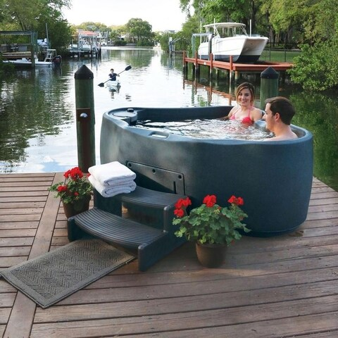 AquaRest Premium 300 2-P Spa with Ozn, Htr, 20 SS Jets, and LED Wtrfll
