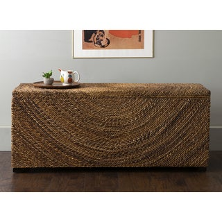 East At Main's Chambers Brown Abaca Bench