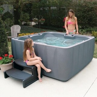 AquaRest AR-600 Stainless Steel LED Waterfall 6-person Spa