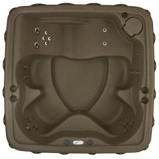 AquaRest Elite 500 5-Person Spa with 29 SS Jets, Ozone and LED Wtrfll (Option: Brown)