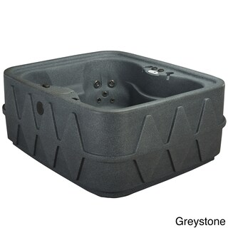 AquaRest Spas AR-400 4-person Spa with 14 Jets and LED Waterfall (Option: Grey)