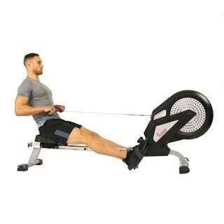 Sunny Health & Fitness SF-RW5623 Air Rowing Machine Rower with LCD Monitor - Black