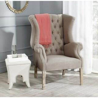 Safavieh Bradon Linen Wingback True Taupe Club Chair