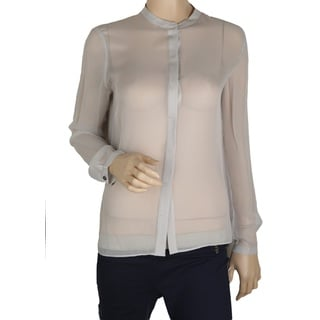 Elie Tahari Women's Chelsea Grey 100% SIlk Blouse