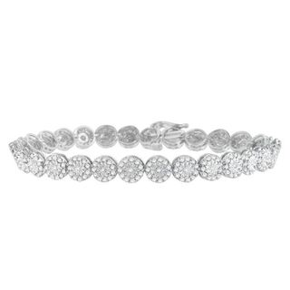 14k White Gold 2ct TDW Round Cut Diamond Bracelet (H-I, SI1-SI2)