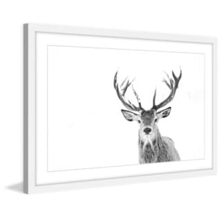 Marmont Hill - 'Majestic Antlers' Framed Painting Print