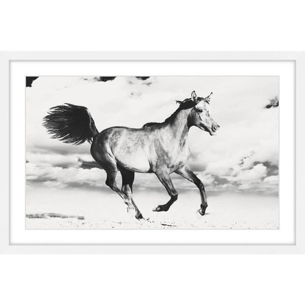 Shop Marmont Hill Handmade Horse Dance Framed Print On