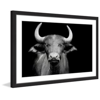 Marmont Hill - 'Cow Stare' Framed Painting Print