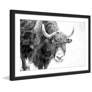 Marmont Hill - 'Buffalo Forward' Framed Painting Print