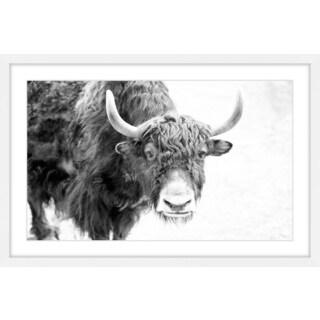 Marmont Hill - 'Buffalo Forward' Framed Painting Print - Multi