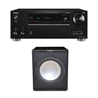 Premier Acoustic PA-150 Subwoofer with Onkyo TX-RZ710 7.2 Channel Network A/V Receiver