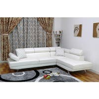 Whitley Modern Faux Leather Right-Facing Chaise Sectional Sofa