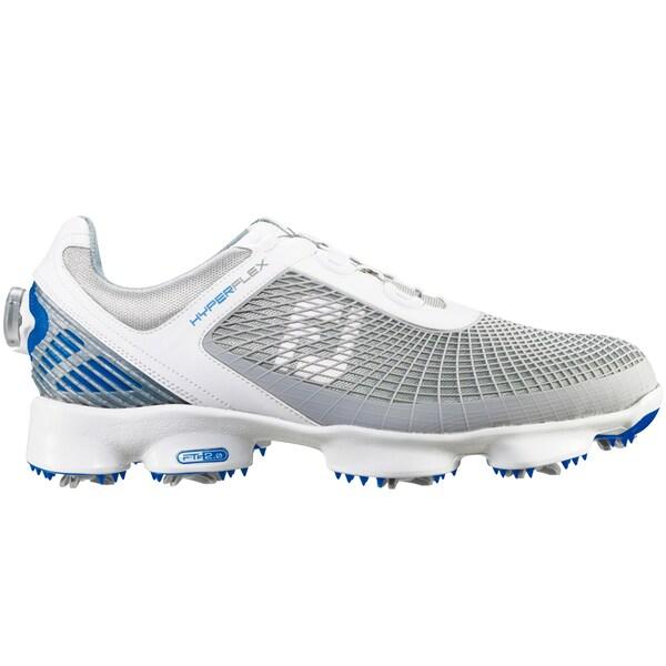 FootJoy HyperFlex BOA Golf Shoes 51053   White/Light Grey/Blue