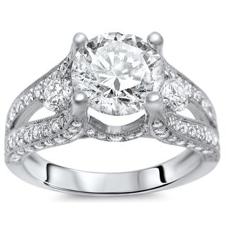 Noori 18k White Gold 2ct TDW Diamond Engagement Ring (G-H, SI1-SI2)