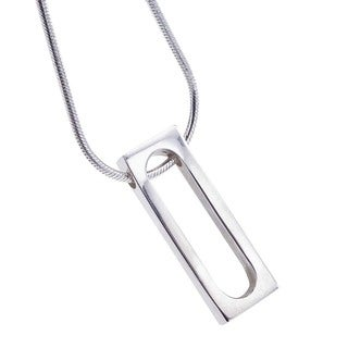Ever One Sterling Silver Oval Pendant Necklace