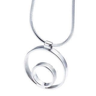 Ever One Sterling Silver Medium Circle Pendant
