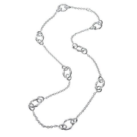 Sterling Silver Multi-Link Station Necklace