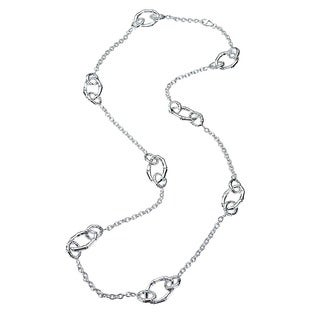 Sterling Silver Multi-Link Station Necklace