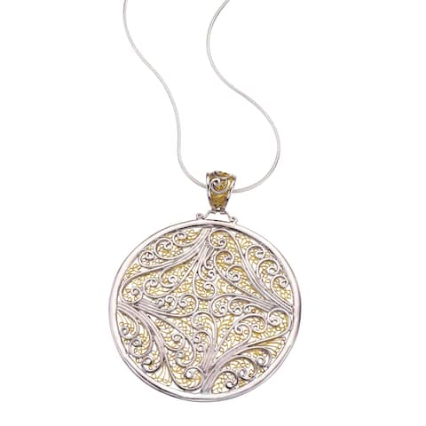 Ever One Sterling-silver and Gold-overlay Pendant Necklace - Gold