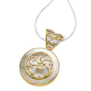 Silver & Black Mother of Pearl Pendant