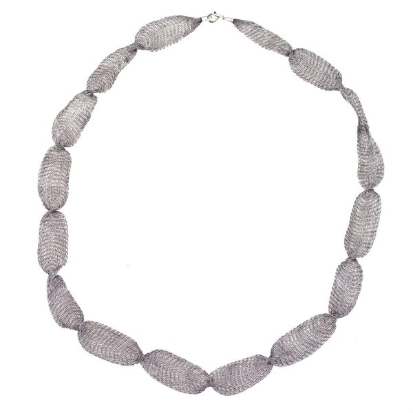Ever One Grey Anium 32 Inch Mesh Necklace