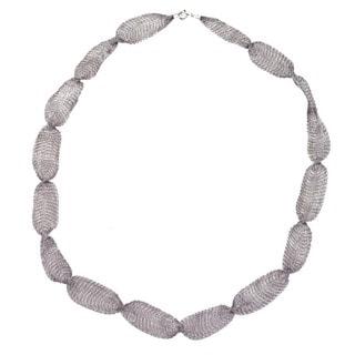 Ever One Grey Titanium 32-inch Mesh necklace