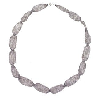 Ever One Grey Titanium 32-inch Mesh necklace - Silver