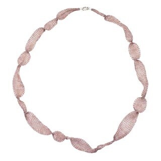 Ever One Bronze Titanium 32-inch Mesh Necklace